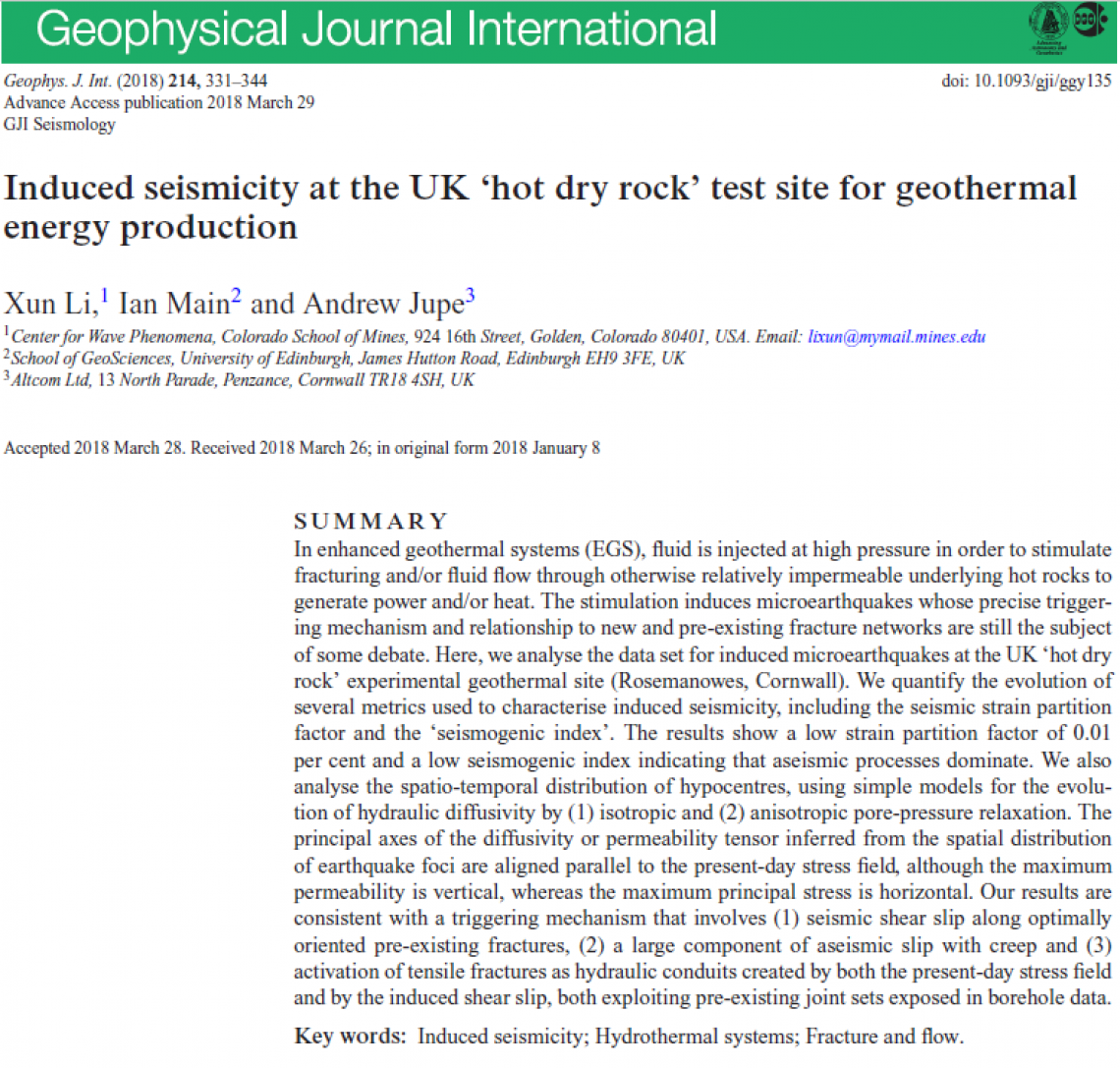Geophysical Journal International abstract